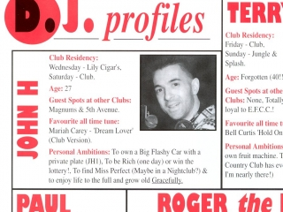 Epping Forest Country Club In House Magazine, DJ Johnny H DJ Profile 1994