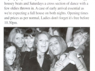 Epping Forest Country Club In House Magazine, DJ Johnny H Saturday Night Advert 1994
