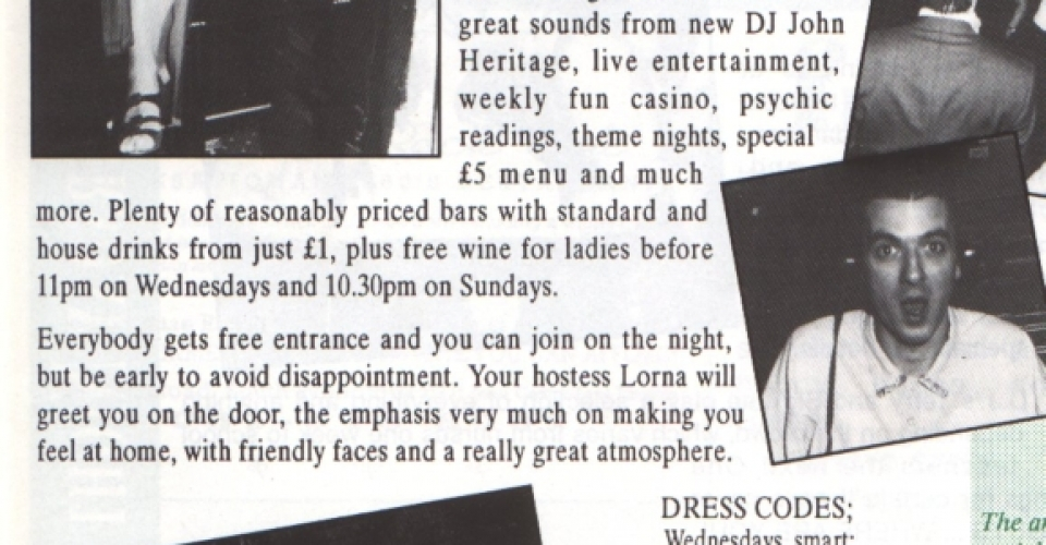 Epping Forest Country Club In House Magazine, DJ Johnny H DJing At Essex Best Over 30s Night In 1992