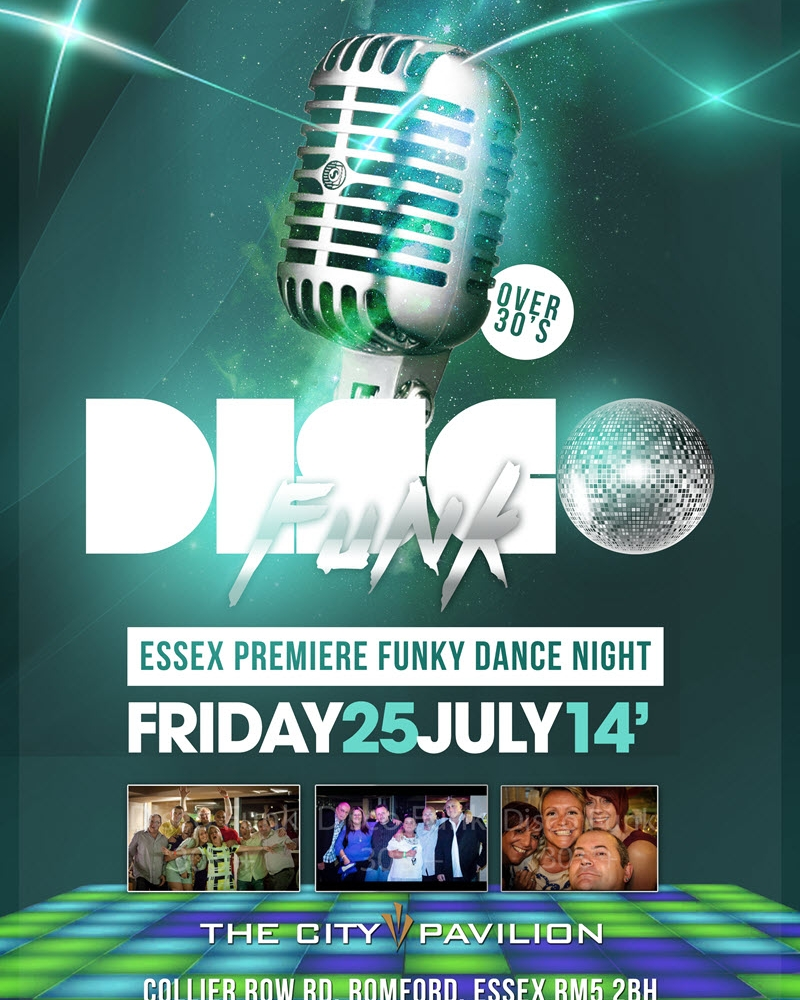 www.funkydancenights.co.uk Essex Premier Over 30s Night, Playing the very best funk, soul, disco, 80s groove, club classics, soulful house from the 70's, 80's & 90s